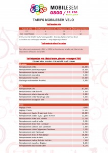 Atelier vélo - Tarifs 2017 (page 1)